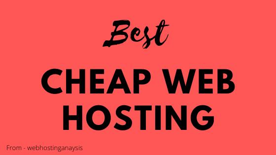 Cheap web hosting