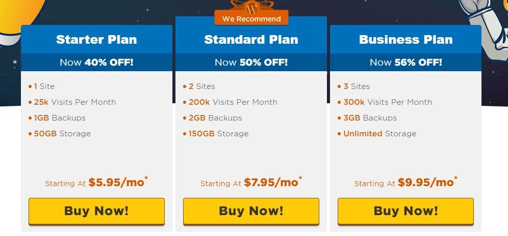Hostgator wordpress Hosting Pricing Plan