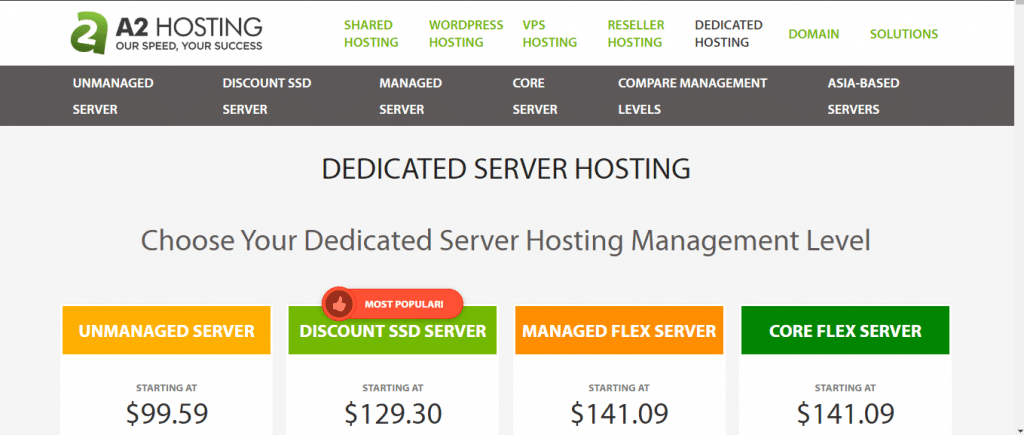 A2 Hosting - Dedicated Server Hosting