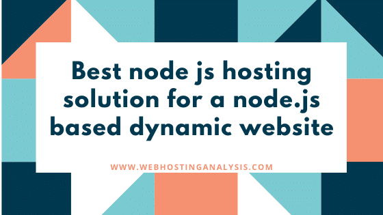 Best node js hosting