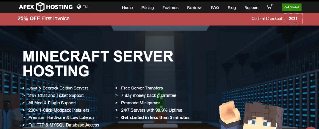 Apex Minecraft Server Hosting